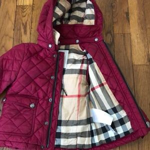 12 month raspberry Burberry Coat